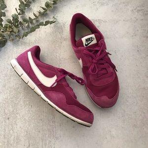NIKE Victoria  Pink Suede Running Sneakers 8.5
